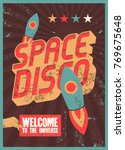 typographic vintage space disco ... | Shutterstock .eps vector #769675648
