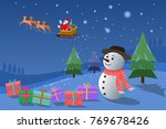 christmas wallpaper with... | Shutterstock .eps vector #769678426