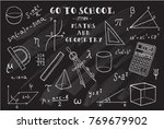 maths and geometry. hand... | Shutterstock .eps vector #769679902