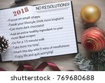 the no resolutions list for 2018 | Shutterstock . vector #769680688