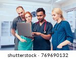a group of young medical... | Shutterstock . vector #769690132