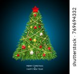 merry christmas and new year... | Shutterstock .eps vector #769694332