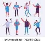 vector background in a flat... | Shutterstock .eps vector #769694338