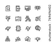 editable stroke icons. vector... | Shutterstock .eps vector #769696402