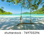 swing on tree at the beautiful... | Shutterstock . vector #769703296