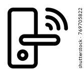 wireless door lock | Shutterstock .eps vector #769705822