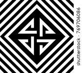 seamless tile with black white...   Shutterstock .eps vector #769706086