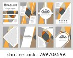 abstract vector layout... | Shutterstock .eps vector #769706596