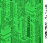 green futuristic seamless... | Shutterstock .eps vector #769712338