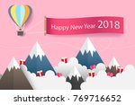 origami balloon and heart on... | Shutterstock .eps vector #769716652
