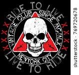 skull t shirt graphic design  | Shutterstock .eps vector #769720678