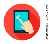 tablet touch circle icon.... | Shutterstock .eps vector #769725496