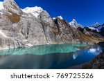 beautiful mountains landscapes... | Shutterstock . vector #769725526
