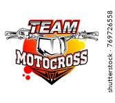 motocross design for t shirt | Shutterstock .eps vector #769726558