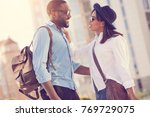 this is love. positive cheerful ...   Shutterstock . vector #769729075