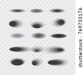 set of vector oval shadows with ... | Shutterstock .eps vector #769733176