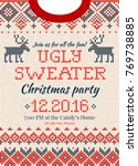 ugly sweater merry christmas... | Shutterstock .eps vector #769738885