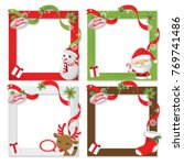 set of christmas frame vector... | Shutterstock .eps vector #769741486