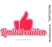 limited edition label. red... | Shutterstock .eps vector #769742596