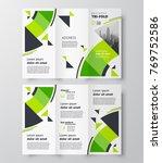 tri fold business brochure... | Shutterstock .eps vector #769752586