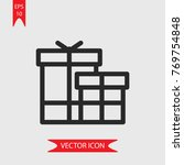 gift vector icon  illustration...