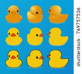 rubber duck  vector image ... | Shutterstock .eps vector #769757536