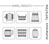 barrel products. vector... | Shutterstock .eps vector #769767346