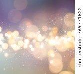 christmas light background. ... | Shutterstock . vector #769771822