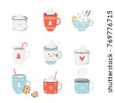 cute set with illustrations of... | Shutterstock .eps vector #769776715