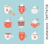cute set with illustrations of... | Shutterstock .eps vector #769776718