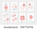 set of 8 cute ready to use gift ... | Shutterstock .eps vector #769776796