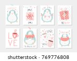 set of 8 cute ready to use gift ... | Shutterstock .eps vector #769776808