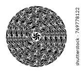 polynesian tattoo style.... | Shutterstock .eps vector #769778122