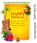 illustration of happy pongal... | Shutterstock .eps vector #769778176