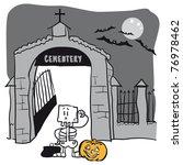 halloween and the skeleton... | Shutterstock .eps vector #76978462