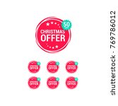 christmas offer   off shopping... | Shutterstock .eps vector #769786012