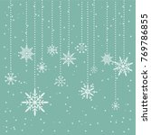 illustration with snowflakes.... | Shutterstock .eps vector #769786855