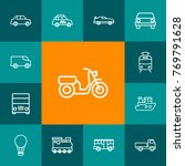 set of 13 traffic outline icons ... | Shutterstock .eps vector #769791628