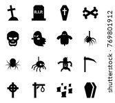 origami style icon set   grave... | Shutterstock .eps vector #769801912
