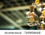 group of lamps with interesting ... | Shutterstock . vector #769808668