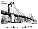 Brooklyn Bridge In New York  ...