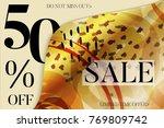 sale advertisement banner on... | Shutterstock .eps vector #769809742