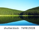mountain lake incredible... | Shutterstock . vector #769815028