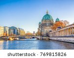Small photo of Berlin Cathedral (Berliner Dom) and Museum Island (Museumsinsel) reflected in Spree River, Berlin, Germany, Europe.