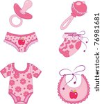 children's clothes and...   Shutterstock .eps vector #76981681