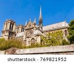 notre dame de paris catholic... | Shutterstock . vector #769821952