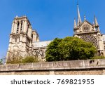 notre dame de paris catholic... | Shutterstock . vector #769821955