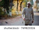 portrait of stylish black... | Shutterstock . vector #769823326