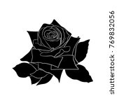 black silhouette roses and... | Shutterstock .eps vector #769832056