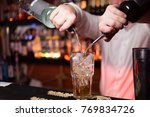 orange alcoholic cocktail is... | Shutterstock . vector #769834726
